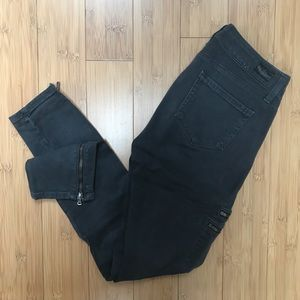 Page gray skinny jeans moto 25